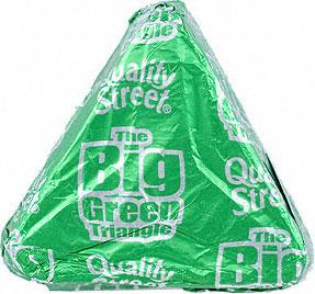 choc green triangle