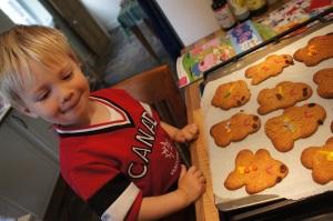 Gingerbread boy (c) Lucy Robinson 2012